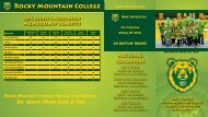 here - Rocky Mountain College