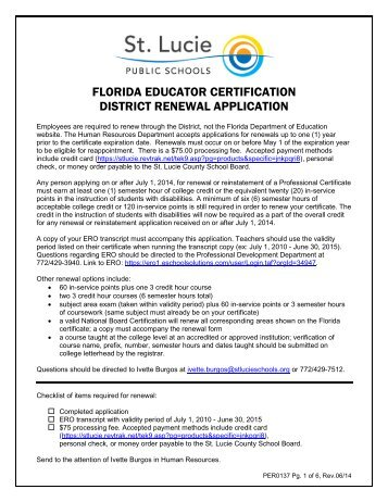 Residency teacher renewal and professional certification - Office of ...