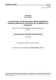 """""""Auswirkungen nichtionisierender elektromagnetischer Strahlung ..."""
