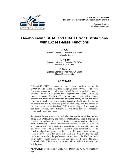Overbounding SBAS and GBAS Error Distributions with Excess