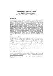 Estimation of Breeding Values for Haploid Chromosomes