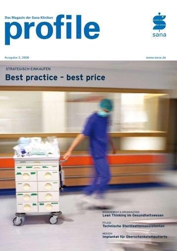 Best practice – best price