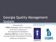 Georgia Quality Management System