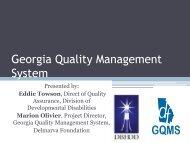 Georgia Quality Management System