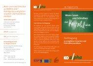 Programm Fachtagung 2013 - Lesen und Schreiben – Mein ...