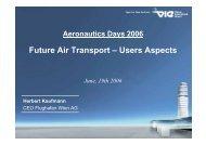 Sustainability of Airport Development - Aeronautics Days 2006
