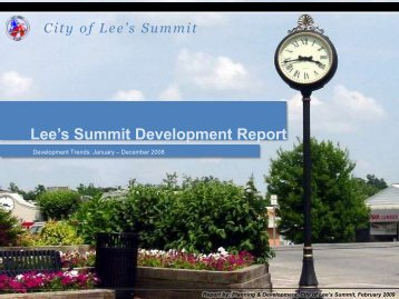 Lee's Summit Development Report - City of Lee's Summit