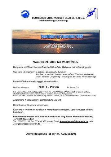 Tauchfahrt im Juni / Juli 2000 - DEUTSCHER UNTERWASSER ...