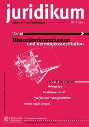 Entstehung und Grundlagen. In - juridikum, zeitschrift für kritik | recht ...