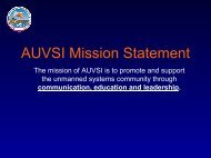 AUVSI Mission Statement - Unmanned Aircraft & Drones