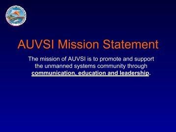 AUVSI Mission Statement - Unmanned Aircraft & Drones