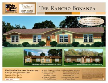 The Rancho Bonanza Exterior - Palm Harbor Homes