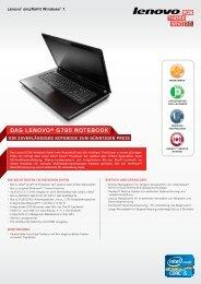 DAS LENOVO® G780 NOTEBOOK