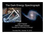 Josh Frieman - Fermilab
