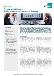 Forschungseinrichtung: Einführung eines zentralen Active Directory