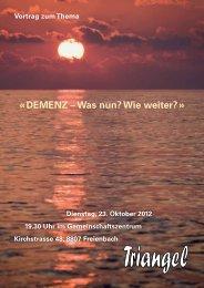 « DEMENZ – Was nun? Wie weiter? » - Schweizerische ...
