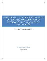 instructivo de las bibliotecas de la red landivariana para la entrega ...