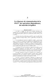 Rapport public annuel 2013, tome I, Les ... - Cour des comptes