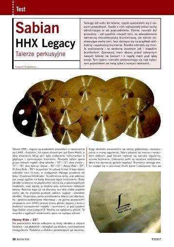 SABIAN HHX Legacy - Music Info