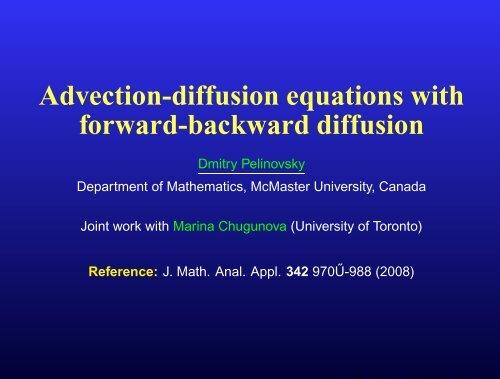 Advection-diffusion equations with forward-backward diffusion