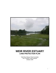 Weir River Estuary Park Land Protection Plan - Town of Hull