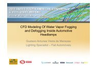 CFD Modeling Of Water Vapor Fogging and Defogging ... - ESSS