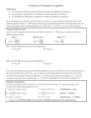 Properties Of Logarithms Worksheet. Worksheets. Rejuvenems ...