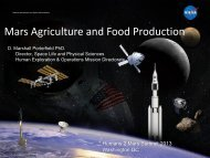 Mars Agriculture and Food Production_D. Marshall Porterfield