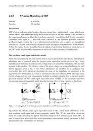 4.2.2 RF-Noise Modelling of HBT - Universität Duisburg-Essen