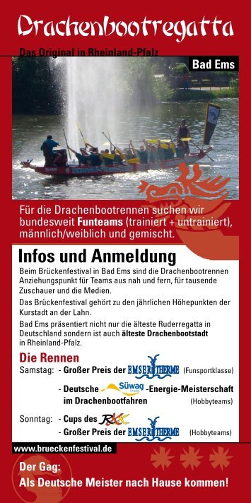 Infos und Anmeldung - Bad Emser Brückenfestival