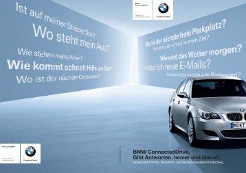 BMW ConnectedDrive. Gibt Antworten. Immer und überall. - BMW.com