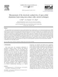Measurement of the electrical conductivity of open-celled aluminium ...
