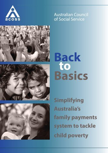 Back to Basics - Australian Council of Social Service