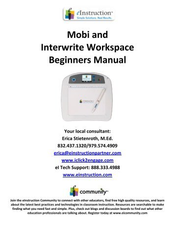 Interwrite Workspace for Mobi Tablet Handouts - Pennsbury School ...