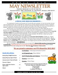 Koala Talk: May 2012 - Cowlishaw Elementary School