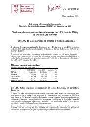 Estructura y Demografía Empresarial. Directorio Central de Empresas