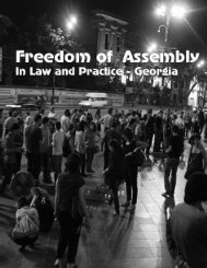 Freedom Of Assembly In Law And Practice - The Human Rights Centre