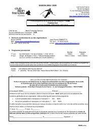 saison 2004 / 2005 bulletin d'inscription recto verso - Club alpin ...