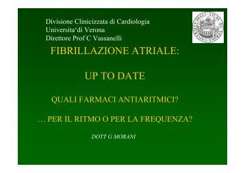 FIBRILLAZIONE ATRIALE: UP TO DATE - Cuorediverona.it