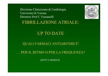 FIBRILLAZIONE ATRIALE: UP TO DATE - Cuorediverona.it