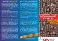 der Wahlbereichsflyer zum Download - CDU Kreisverband Lingen