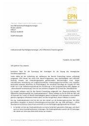 Geschäftsstelle Nachhaltigkeitsstrategie Renate ... - EPN Hessen eV