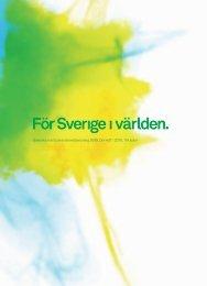 Årsredovisning 2009 - Svenska institutet