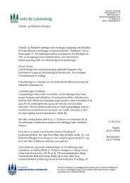 Indre By Lokaludvalg om dispensationssag om caféskib i Havnegade
