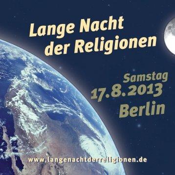 Programmheft - Lange Nacht der Religionen