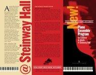 Piano Ensemble Program - Third Street Music School Settlement