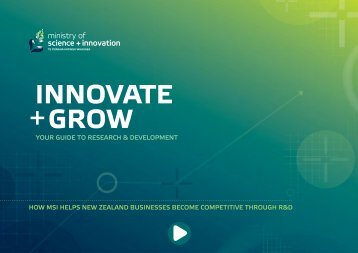 MSI Innovate + Grow E-Booklet - Science and Innovation