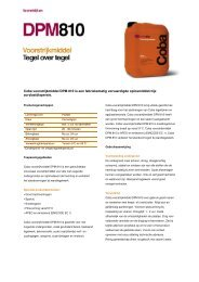 Productinfoblad - BPG Bouwhof Groothandel