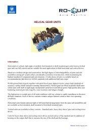 helical gear units - Ro-quip.com