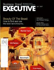 2007-05-21 BTE cover.. - Columbia Hospitality
